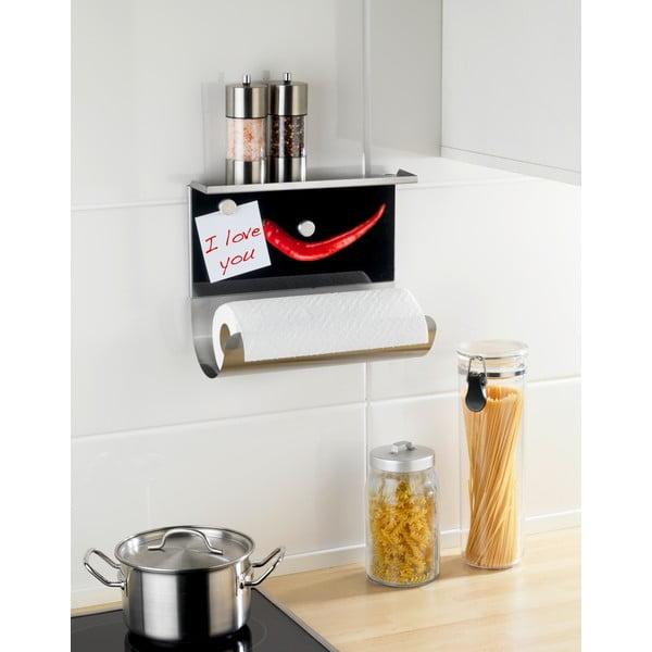 Magnetyczny uchwyt na ręcznik papierowy z półką Wenko Hot Pepper