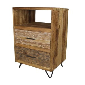 Niska komoda z drewna tekowego HSM Collection Baliaga