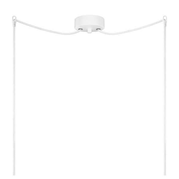 Podwójna  biało-miedziana lampa wisząca Bulb Attack Cinco