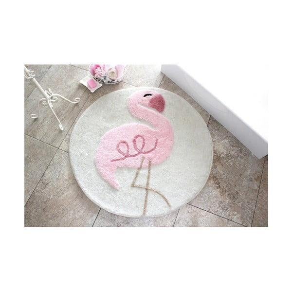 Dywanik łazienkowy Alessia Pink Flamingo, Ø 90 cm