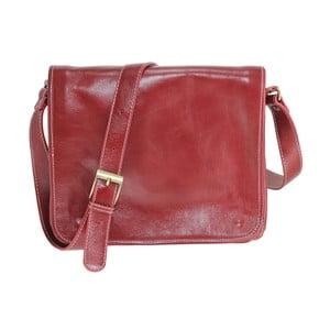 Czerwona torba skórzana Chicca Borse Norma