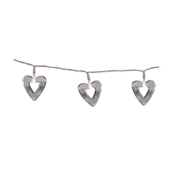 Girlanda świetlna Hearts 90 cm, lustrzana