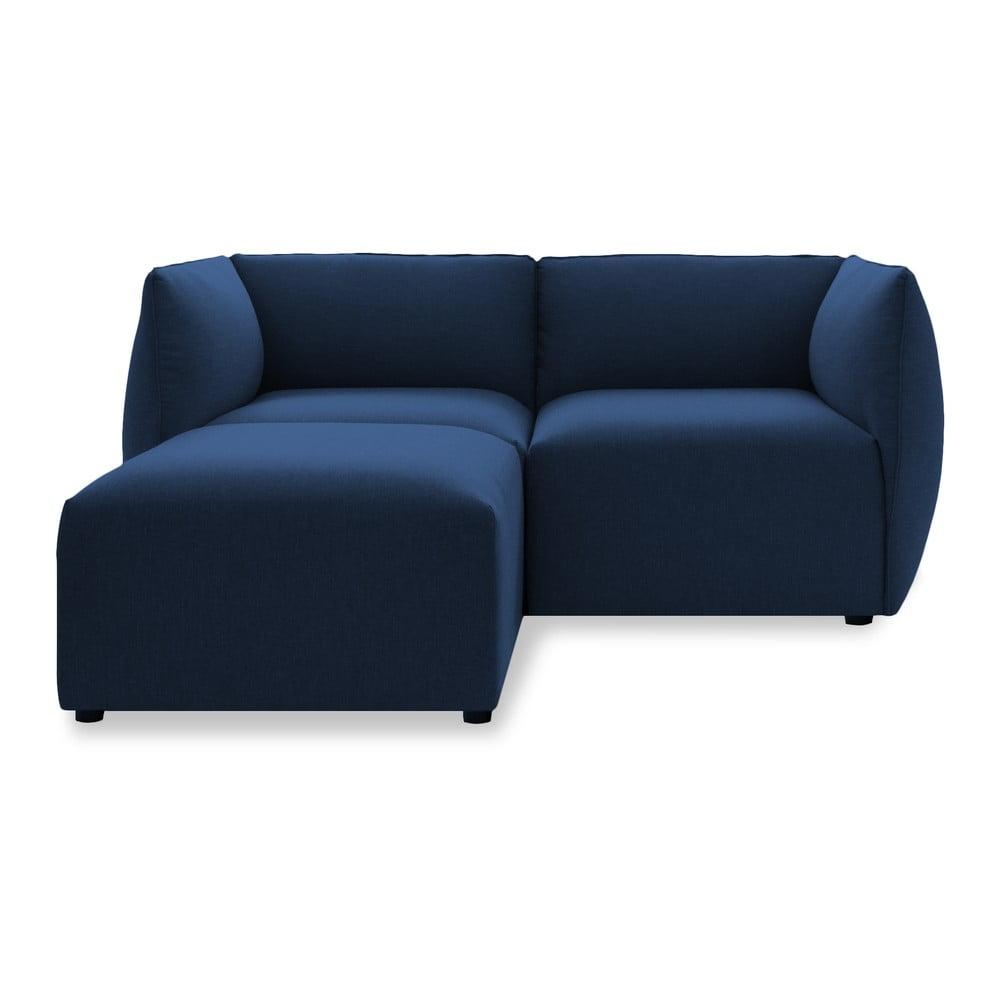 Sofa dwuosobowa VIVONITA Cube Dark Blue z podnogiem
