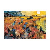 Obraz Vincent Van Gogh - Czerwona winnica, 90x60 cm