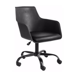 Czarny regulowany fotel biurowy Støraa Leslie