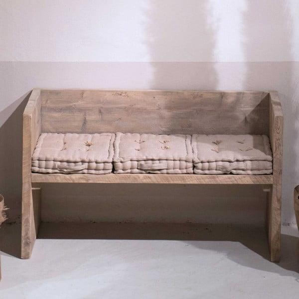 Ławka z drewna pozyskanego z recyklingu Old Wood, 47x129 cm