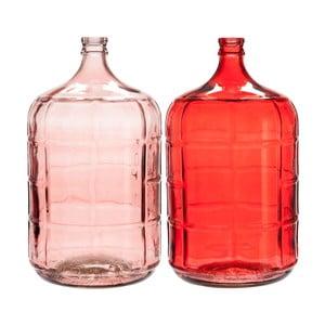 Komplet 2 wazonów J-Line Glass Stripe, 26x50 cm