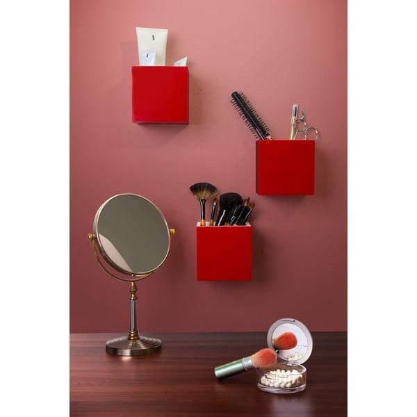 Pudełko naścienne QUALY Pixel Box, czerwone