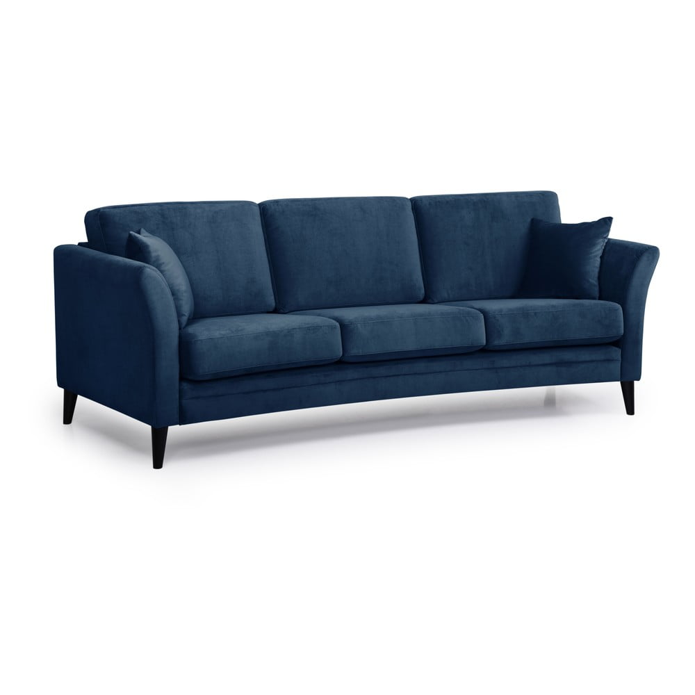 Ciemnoniebieska sofa Scandic Eden, 237 cm