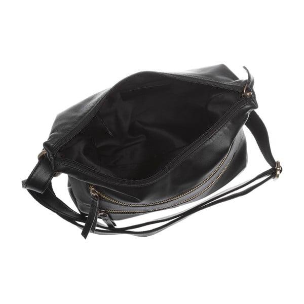 Damska torba skórzana Valentina Black Small Hobo