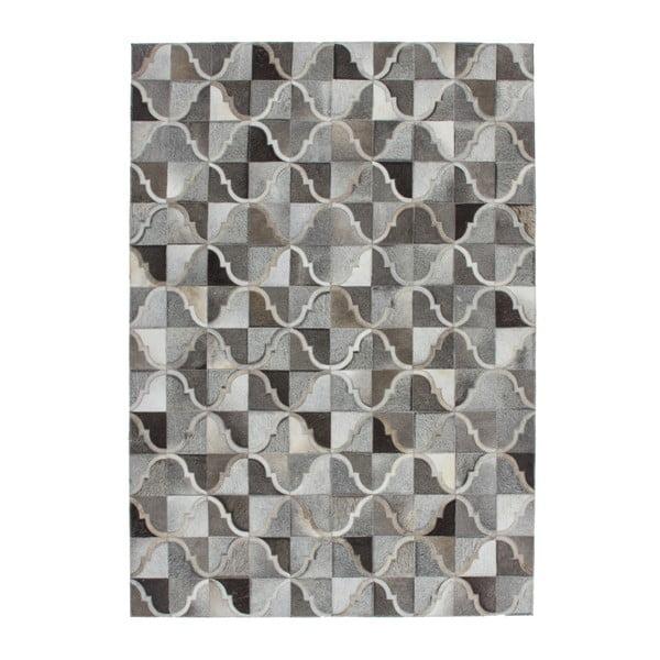 Szary skórzany dywan Eclipse, 160x230cm