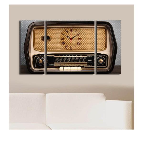 Obraz z zegarem Retro