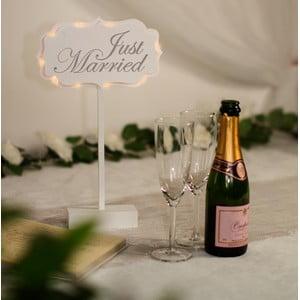 Dekoracja ślubna na stół z lampką LED Married