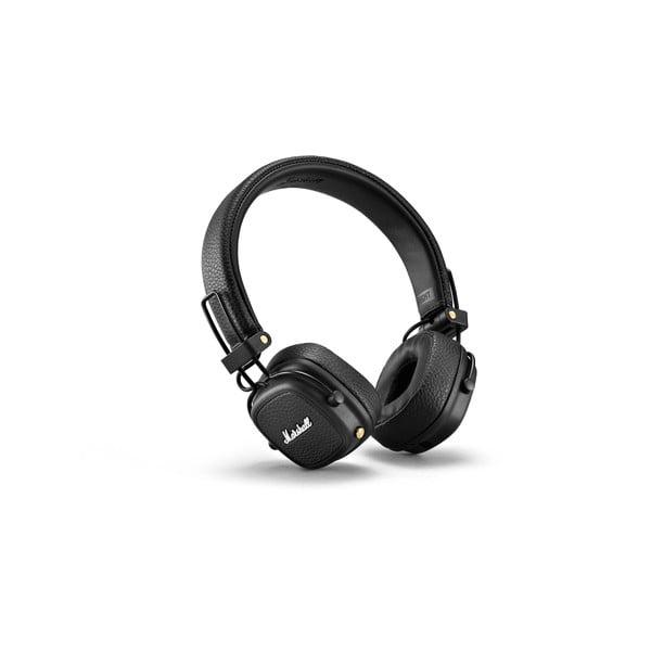 Czarne słuchawki bezprzewodowe Marshall Major III