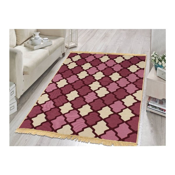Fioletowo-beżowy dywan Ya Rugs Claret, 120x180cm