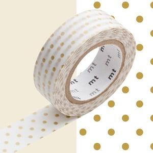 Taśma dekoracyjna washi Pois Gold
