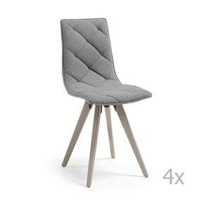 Zestaw 4 szarych krzeseł La Forma Tuk