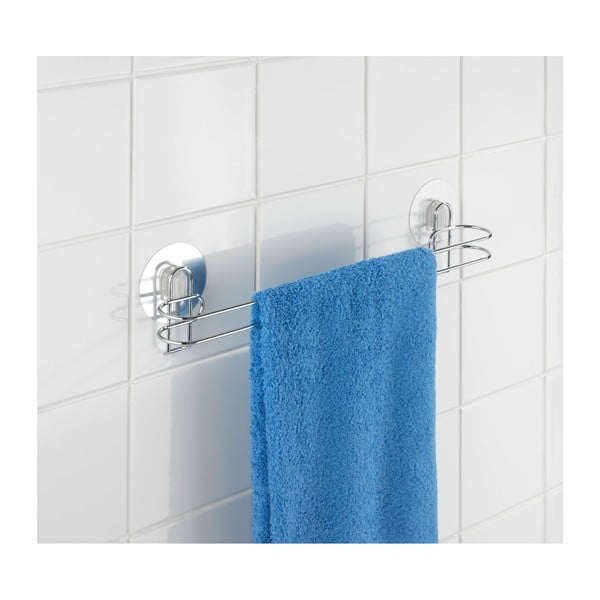 Wieszak z przyssawkami na ręczniki Wenko Static-Loc 45 cm, do 8 kg