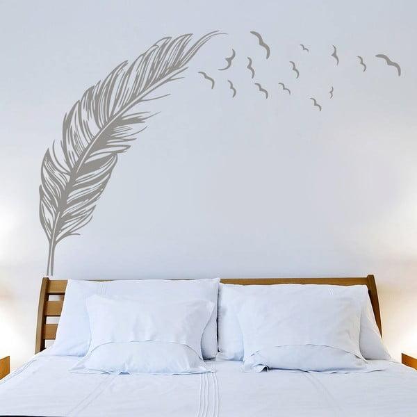 Naklejka Piórko i ptaki, 70x50 cm