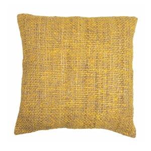 Żółta poduszka ZicZac Chambray, 45x45 cm