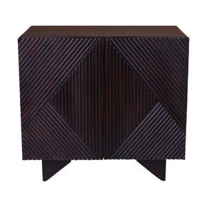 Czarna komoda z drewna mangowego House Nordic Morvi