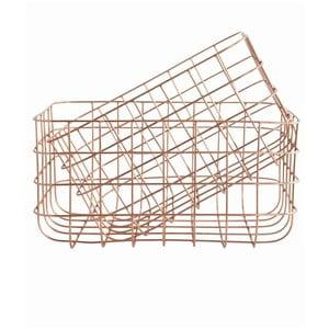 Zestaw 2 koszyków Simply Copper M