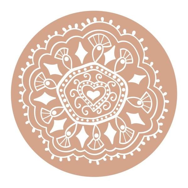 Naklejki Mandala, old pink, 4 szt