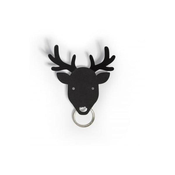 Wieszak na klucze QUALY Deer Key Holder, czarny