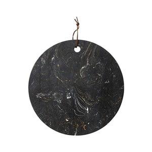 Czarna deska do serwowania z kamienia Ladelle, ⌀30cm