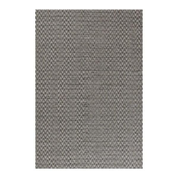 Wełniany dywan Charles Black White, 140x200 cm
