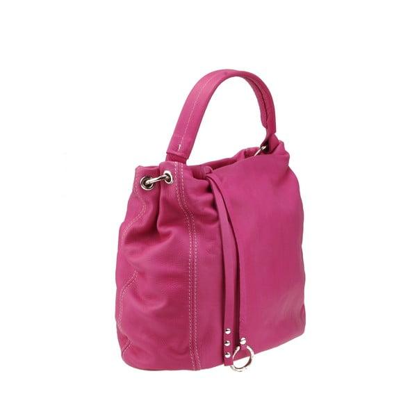 Skórzana torebka Agena, różowa