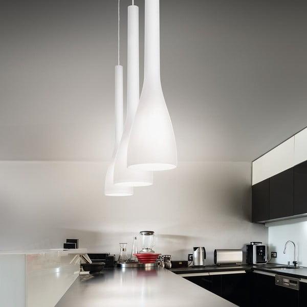 Lampa wisząca Evergreen Lights White Flute, 65 cm