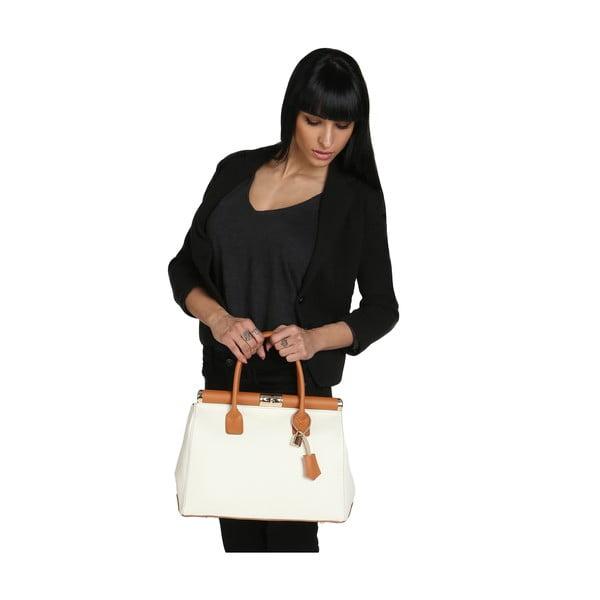 Beżowa torba skórzana Chicca Borse Blair