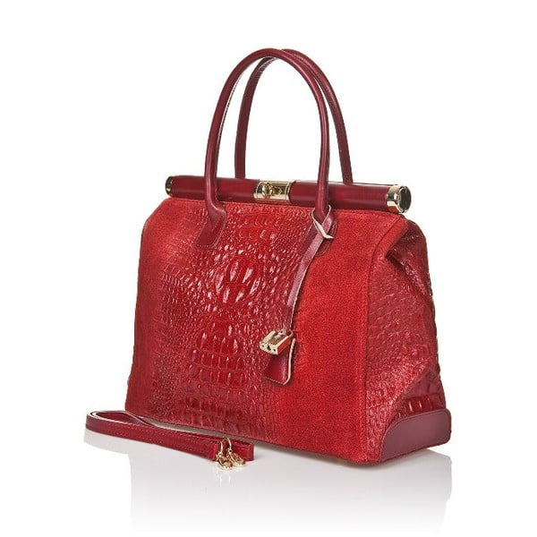 Czerwona torebka skórzana Markese Mara