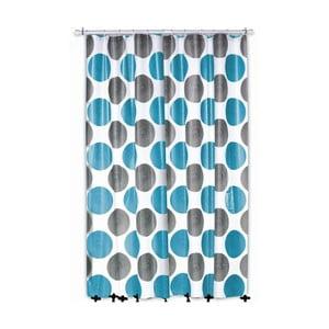 Zasłona prysznicowa Lamara, szara/turkusowa, 180x200 cm
