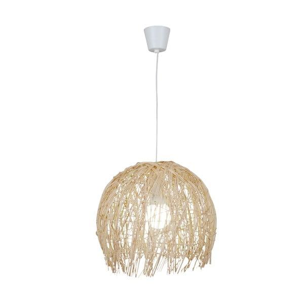 Lampa wisząca Struwel, beżowa 28x30 cm