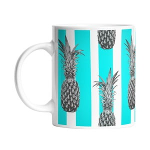 Kubek ceramiczny Pineapples in Stripes, 330 ml