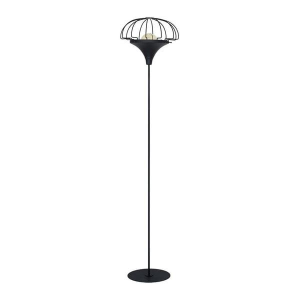Czarna lampa stojąca Perseus Duro