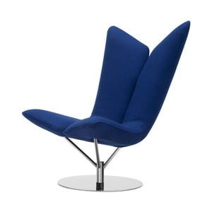 Niebieski fotel Softline Angel