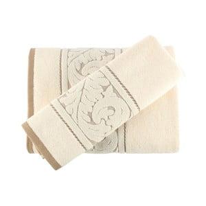 Zestaw kremowego ręcznika i ręcznika kąpielowego Sultan