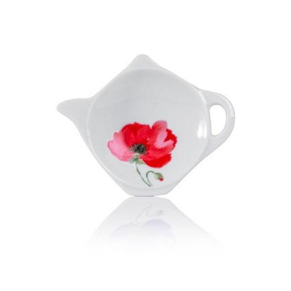 Porcelanowy spodek na torebki od herbaty Sabichi Poppy