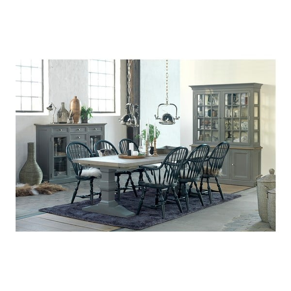 Czarne krzesło z podłokietnikami Canett Wembley