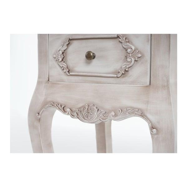 Stolik nocny Baroque Antique White