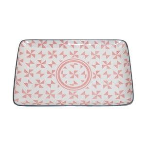 Różowa taca Tokyo Design Studio Geo Eclectic, 21 x 13,5 cm