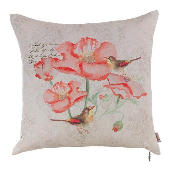 Poduszka z wypełnieniem Spring Poppy