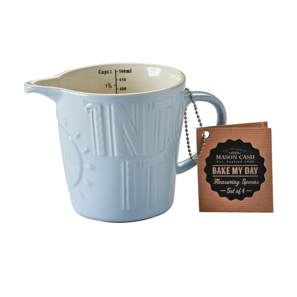 Miarka kamionkowa Mason Cash Bake My Day Blue, 0,5 l