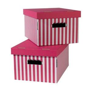 Zestaw 2 różowych pudełek Compactor Aqua