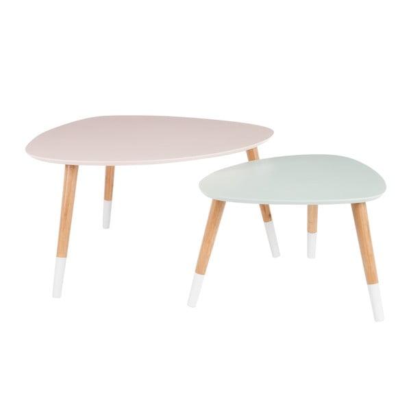 Zestaw 2 stolików Vintage Table, 80x68 cm/60x50 cm