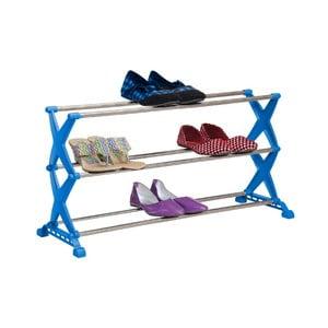 Niebieski regał składany na buty Bonita, 3 półki