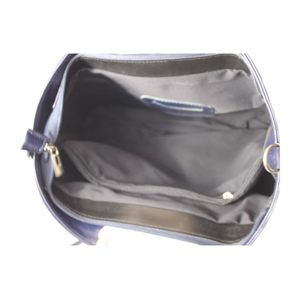 Niebieska skórzana torebka Gia